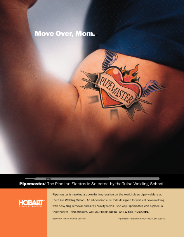 Print Ad Photo Retouching - Hobart Welding Products